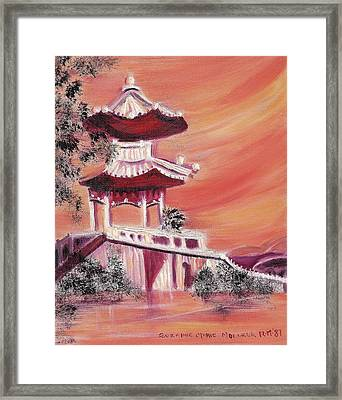 Pavillion In China Framed Print by Suzanne  Marie Leclair