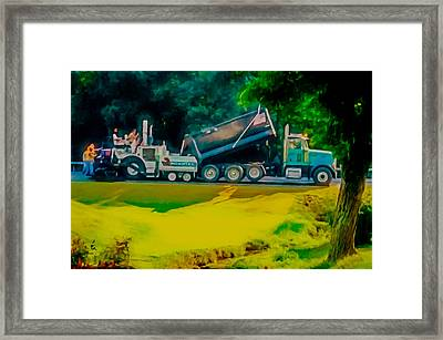 Paving Crew 2 Framed Print by Lanjee Chee