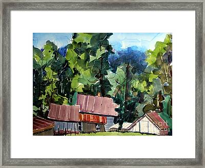 Paw Paw Pike Pastoral Framed Print by Charlie Spear