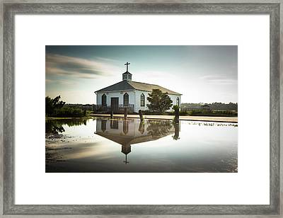 Pawleys Chapel Reflection Framed Print