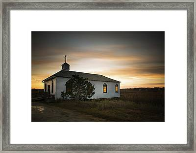 Pawleys Chapel Sunset Framed Print by Ivo Kerssemakers