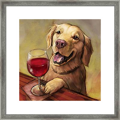 Paw'n For Wine Framed Print by Sean ODaniels