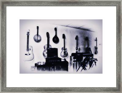 Pawn Shop Guitars Framed Print by Bill Cannon