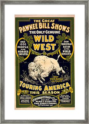 Pawnee Bill Shows Framed Print by Charles  shoup