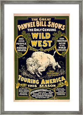 Pawnee Bill Shows Framed Print