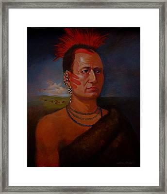 Pawnee Chief Around 1820 Framed Print by Alan Carlson