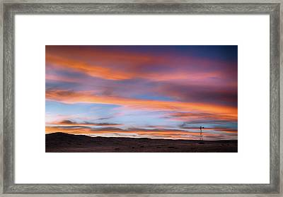 Framed Print featuring the photograph Pawnee Sunset by Monte Stevens