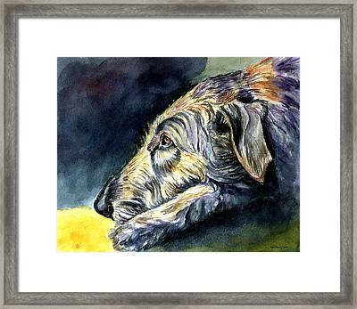 Paws To Reflect Irish Wolfhound Framed Print by Lyn Cook