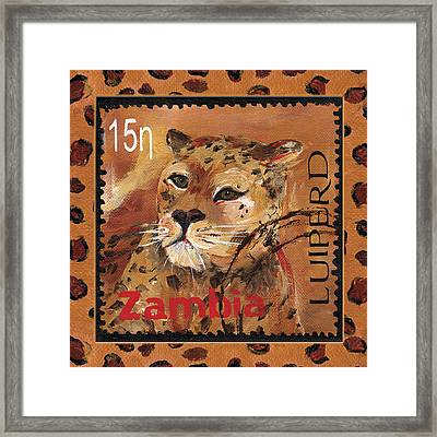 Pawsing On The Spot Framed Print by Debbie McCulley