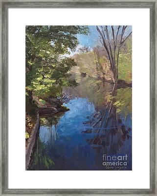 Pawtucket Canal Framed Print