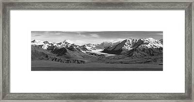 Paxson Glacier Wide Framed Print