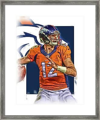 Paxton Lynch Denver Broncos Oil Art Framed Print