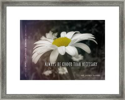 Pay It Forward Quote Framed Print by JAMART Photography