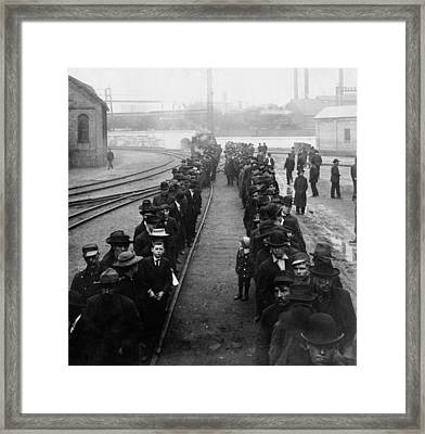 Pay Line At The Homestead Steel Works Framed Print