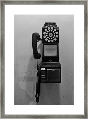 Framed Print featuring the photograph Pay Phone by Bradford Martin