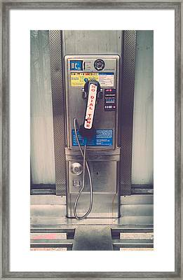 Pay Phone Framed Print by Erin Cadigan