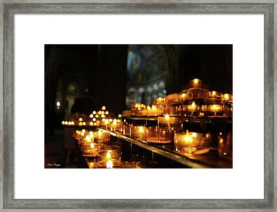 Pay To Pray Framed Print by Liam Griggs