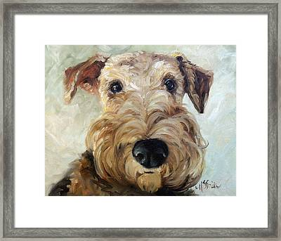 Paying Close Attention Framed Print by Mary Sparrow