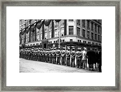 Paying Last Respects Framed Print