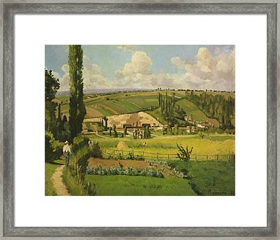Paysage Aux Patis, Pointoise Framed Print by Camille Pissarro