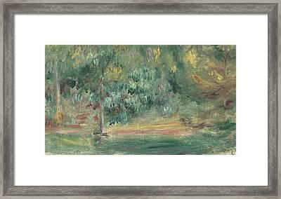 Paysage Framed Print by Pierre Auguste Renoir