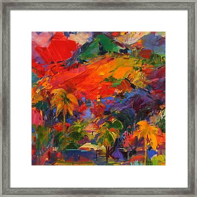 Paysage Polynesien Framed Print