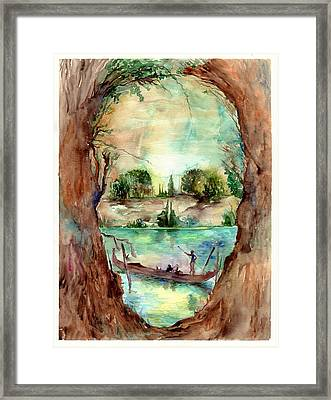 Paysage With A Boat Framed Print