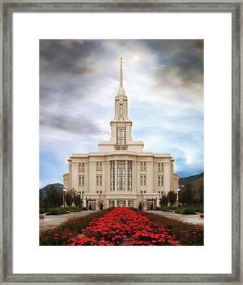 Payson Temple #3 Framed Print