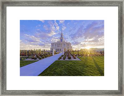 Payson Temple I Framed Print by Chad Dutson