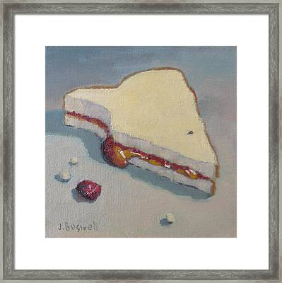 Pb And J With Cumbs Framed Print by Jennifer Boswell