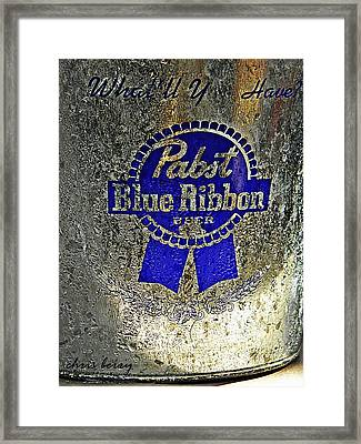 Pbr  Bucket O Beer  Framed Print