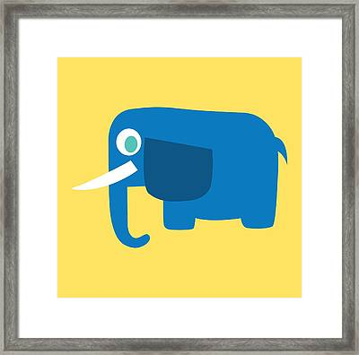 Pbs Kids Elephant Framed Print