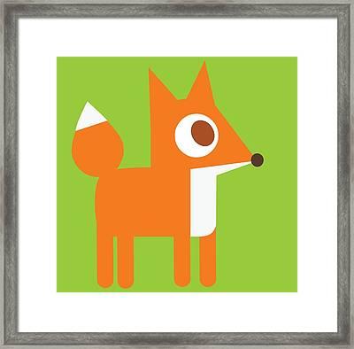 Pbs Kids Fox Framed Print