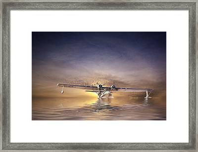 Pby Catalina Sunset Framed Print by Rob Lester Wirral
