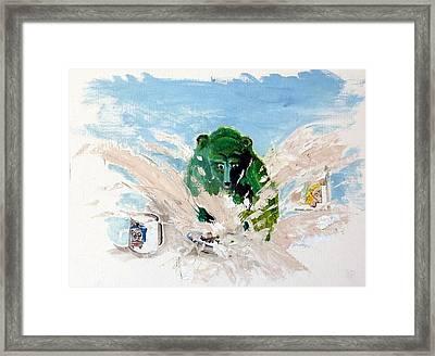 Pea As In Porridge Framed Print by Chris Walker