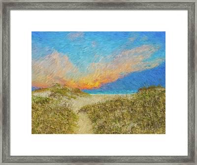 Pea Island Beach Framed Print by Ches Black