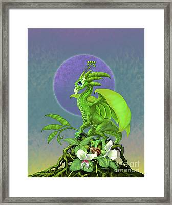 Pea Pod Dragon Framed Print by Stanley Morrison