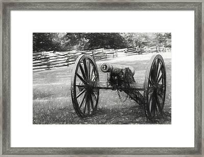 Pea Ridge Sketch 1 Bw Framed Print