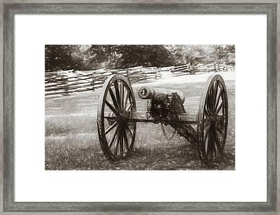 Pea Ridge Sketch 1 Sepia Framed Print