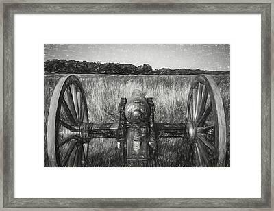 Pea Ridge Sketch 3 Bw Framed Print