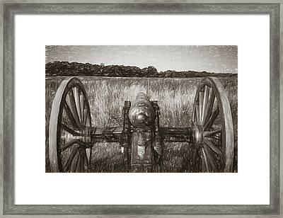 Pea Ridge Sketch 3 Sepia Framed Print