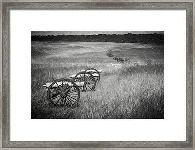 Pea Ridge Sketch 4 Bw Framed Print
