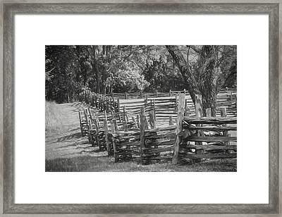Pea Ridge Sketch 5 Bw Framed Print