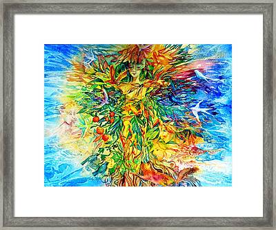 Peacable Kingdom Framed Print by Trudi Doyle