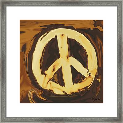 Peace 2 Framed Print by Rabi Khan