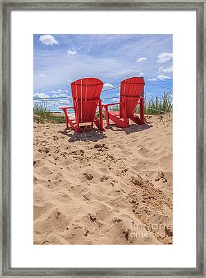 Peace Among The Dunes Framed Print by Edward Fielding