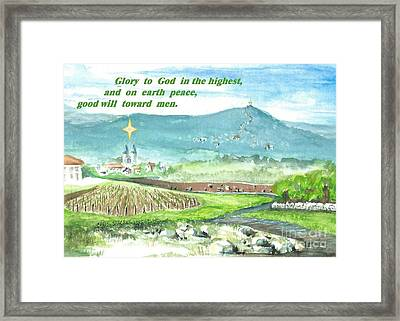 Peace And Good Will Framed Print by Christina Verdgeline