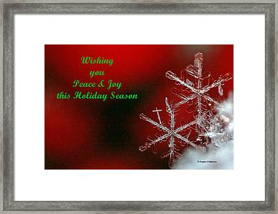 Peace And Joy Christmas Card Two Framed Print by Angela Patterson