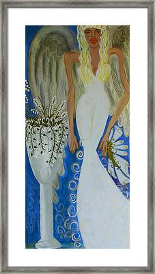 Peace And Love Angel Framed Print by Helen Gerro