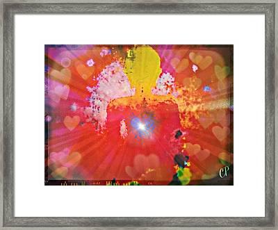 Peace And Love Meditation Framed Print
